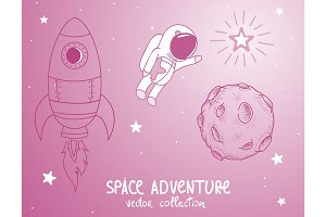 astonaut cute adventure cosmos
