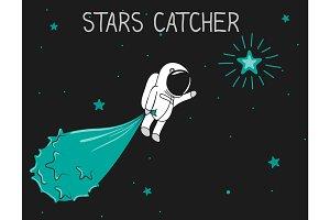 astronaut catch the stars