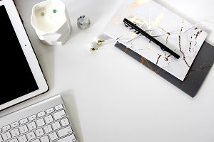 iPad & Marble Notebooks Desktop