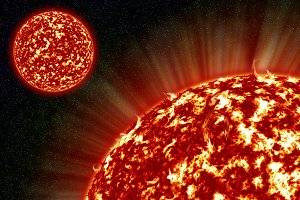 Two sun in space