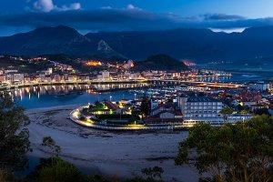 Ribadesella,Asturias, night view