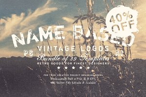 NameBased Vintage Logos Bundle Vol.1
