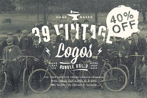 NameBased Vintage Logos Bundle Vol.2