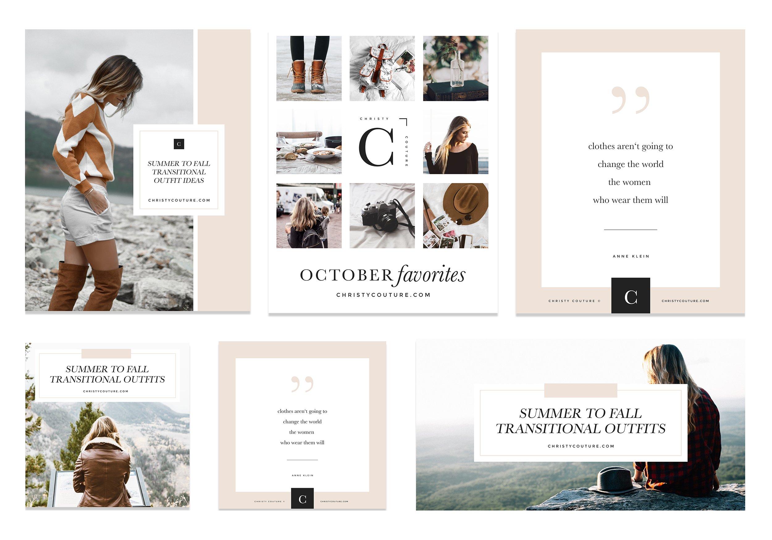 fashion blogger social media kit templates creative market. Black Bedroom Furniture Sets. Home Design Ideas