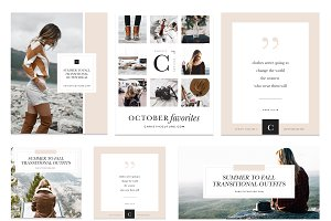 Fashion Blogger Social Media Kit