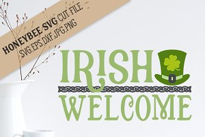 Irish Welcome cut file