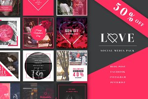 Love - Social Media Pack - 50% off