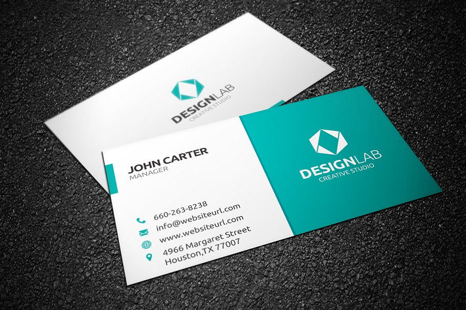 Simple Clean Business Card - Business Card Templates | Creative ...
