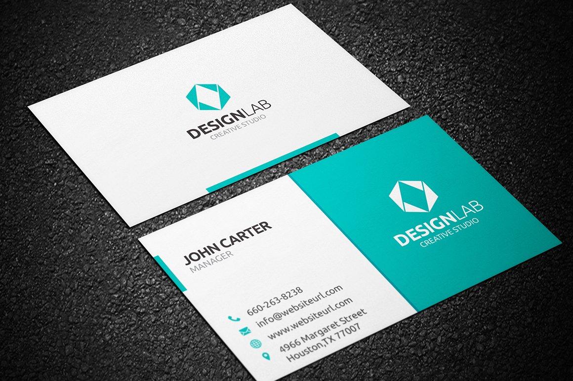 simple clean business card  creative business card