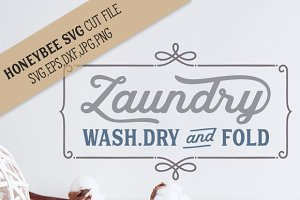 Laundry Wash Dry and Fold cut file