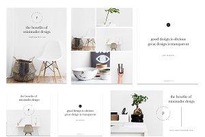 Minimal Social Media Marketing Kit