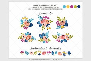 Spring Wedding Floral Clipart