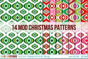 Modern Christmas Digital Paper