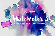 Watercolor Element & Texture Pack