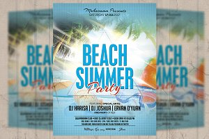 Summer Beach Party Flyer / Poster