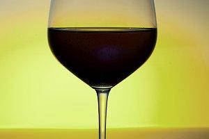 wine glass in white back ground