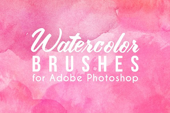 75 Watercolor Photoshop Brushes