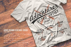 Hand Drawn Vintage Logos Volume 1