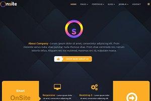 Onsite OnePage Joomla Template