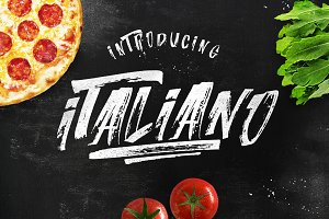ITALIANO Brush Font +Extras