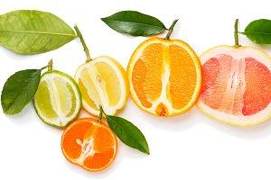 Slices of citrus fruits.