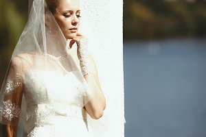 Sensual portrait of the bride