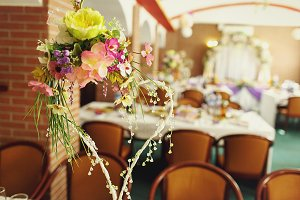 Lovely decorations with flowers