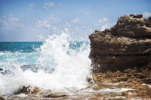Israel Mediterranean Sea Splash