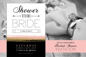 Glam Bridal Shower Invitation