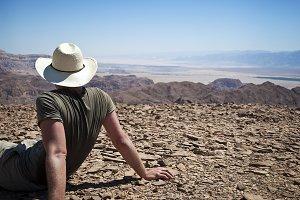 Man on Mt. Timna Israel