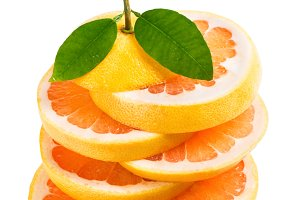 Slices of grapefruit