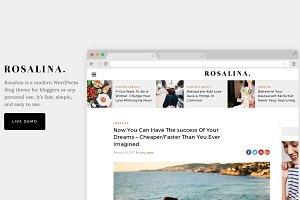 Rosalina - A Blog Theme