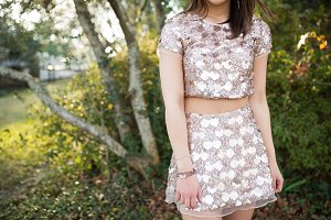 Sequin Two-Piece