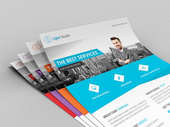 Ranca Modern Corporate Flyer Flyer Templates Creative Market