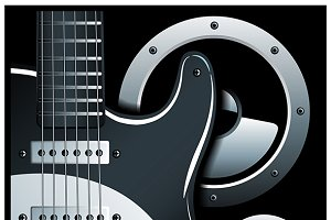Electronic Guitar and Speaker System