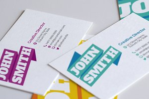 Graphic Ribbon Business Cards