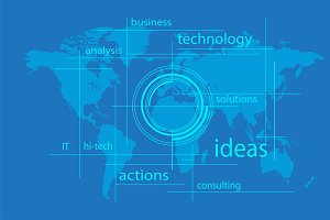 IT Interface solution wit world map