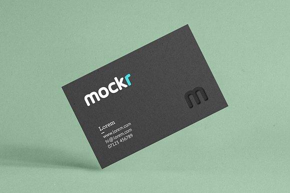 Realistic Business Card Mockup Psd in Print Mockups