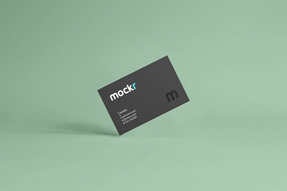 Realistic Business Card Mockup Psd in Print Mockups - product preview 1