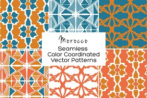 Morocco Seamless Vector Patterns