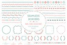 Doodle Seamless Borders, Elements