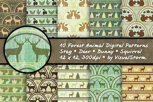 Woodland Forest Animal Patterns