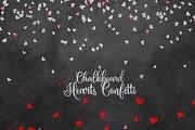 Chalkboard Hearts Confetti Clipart