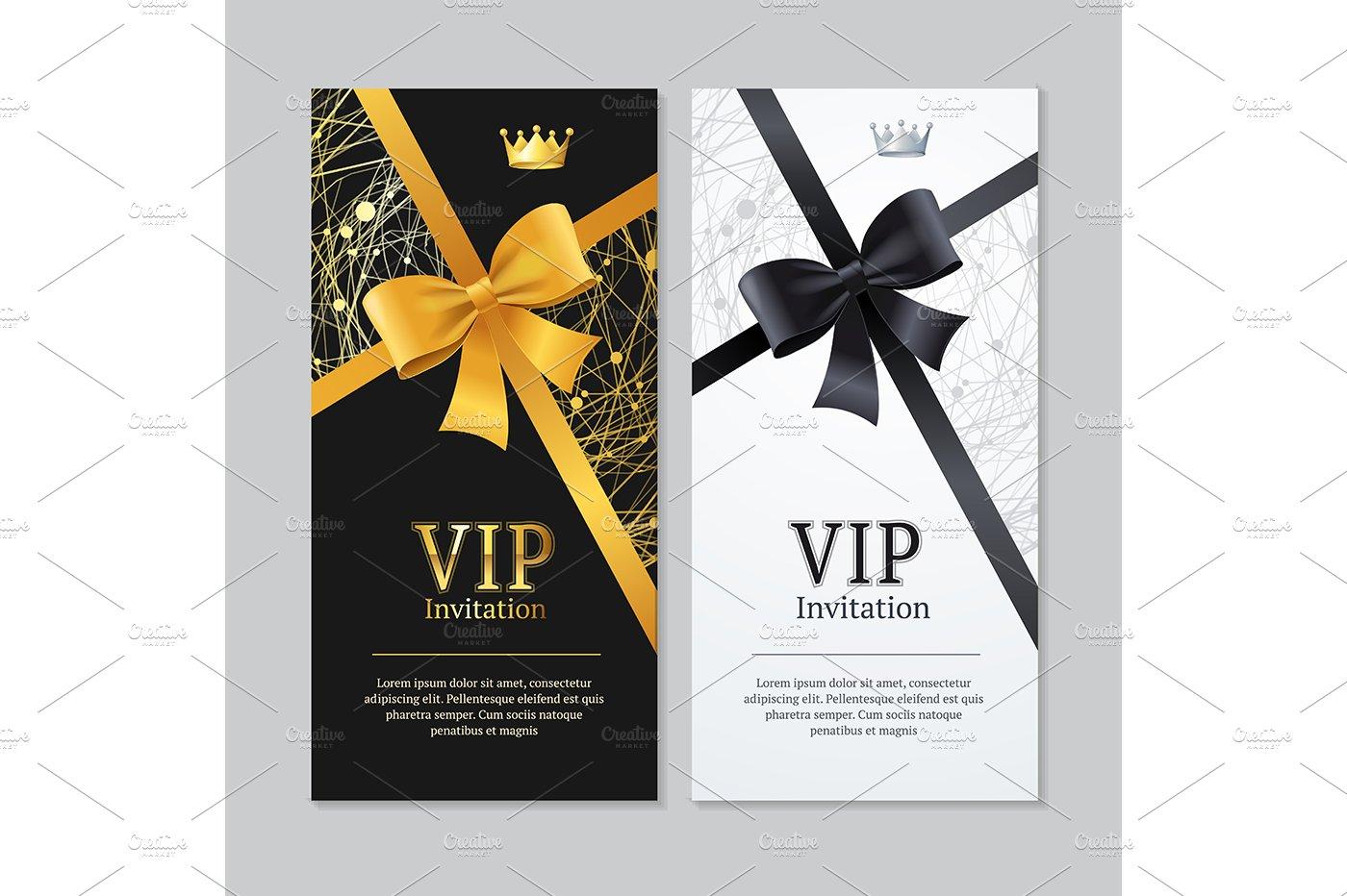 Vip Invitation And Card Illustrations Creative Market