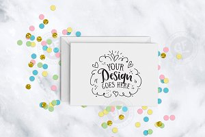 Pretty pastel confetti greeting card