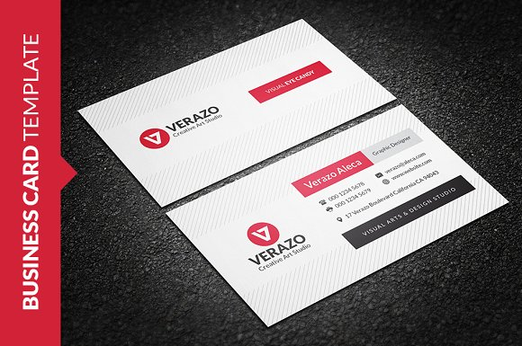 Clean creative business card business card templates creative market fbccfo Gallery