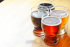 Sample beer glasses