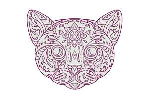 Cat Head Mandala