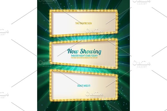 Gold frame retro comic design banner in Graphics - product preview 1