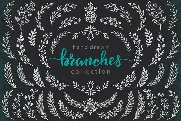 Branches, wreaths, wedding design